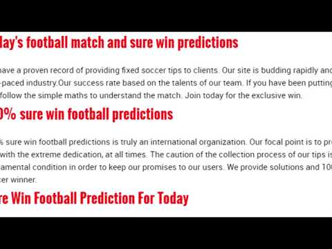 Today's football predictions and fixture w 110shop co uk