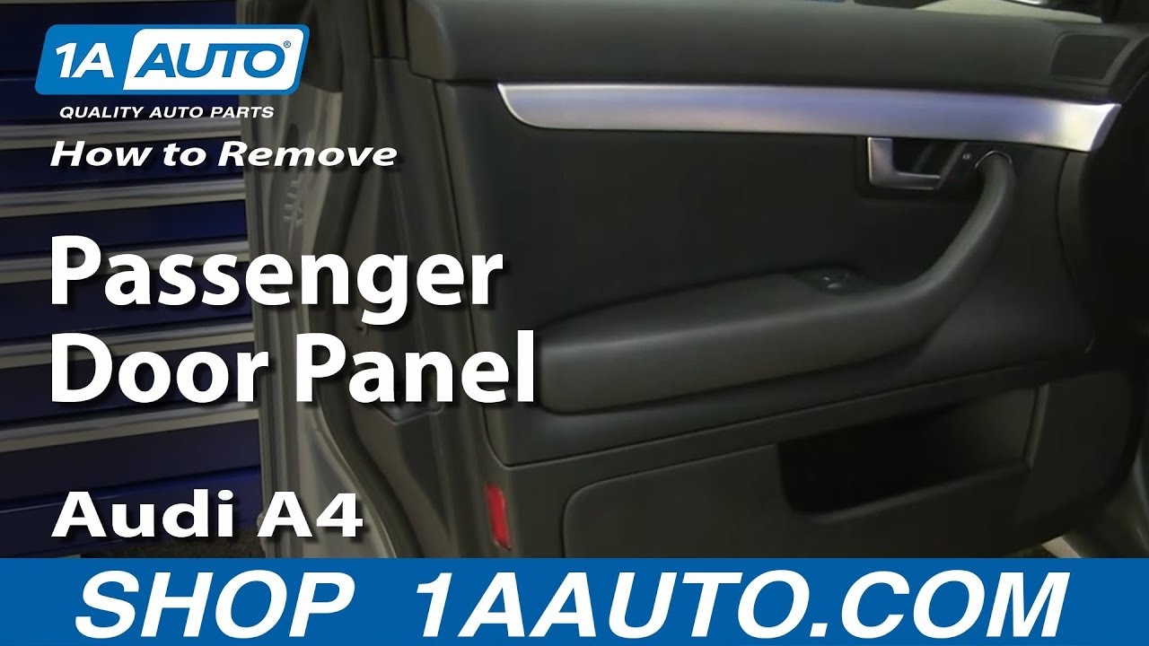 maxresdefault how to remove and install passenger door panel on audi a4 youtube  at pacquiaovsvargaslive.co