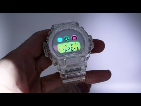 Unboxing 2020 G-Shock DW6900SP-7 Transparent Rainbow Skeleton 25th Anniversary