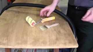 видео Как отреставрировать старый стол?