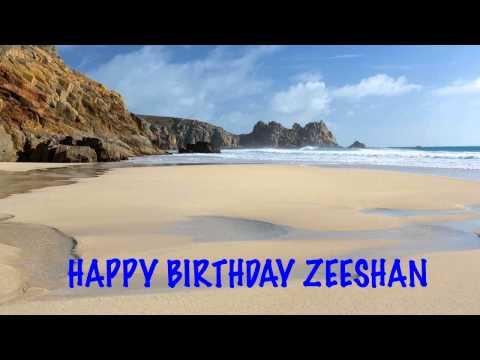 Zeeshan   Beaches Playas - Happy Birthday