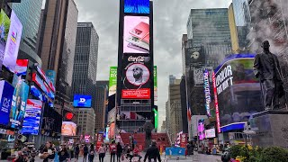 New York City Live Walking Tour from Times Square to Bryant Park Winter Village (October 30, 2020)