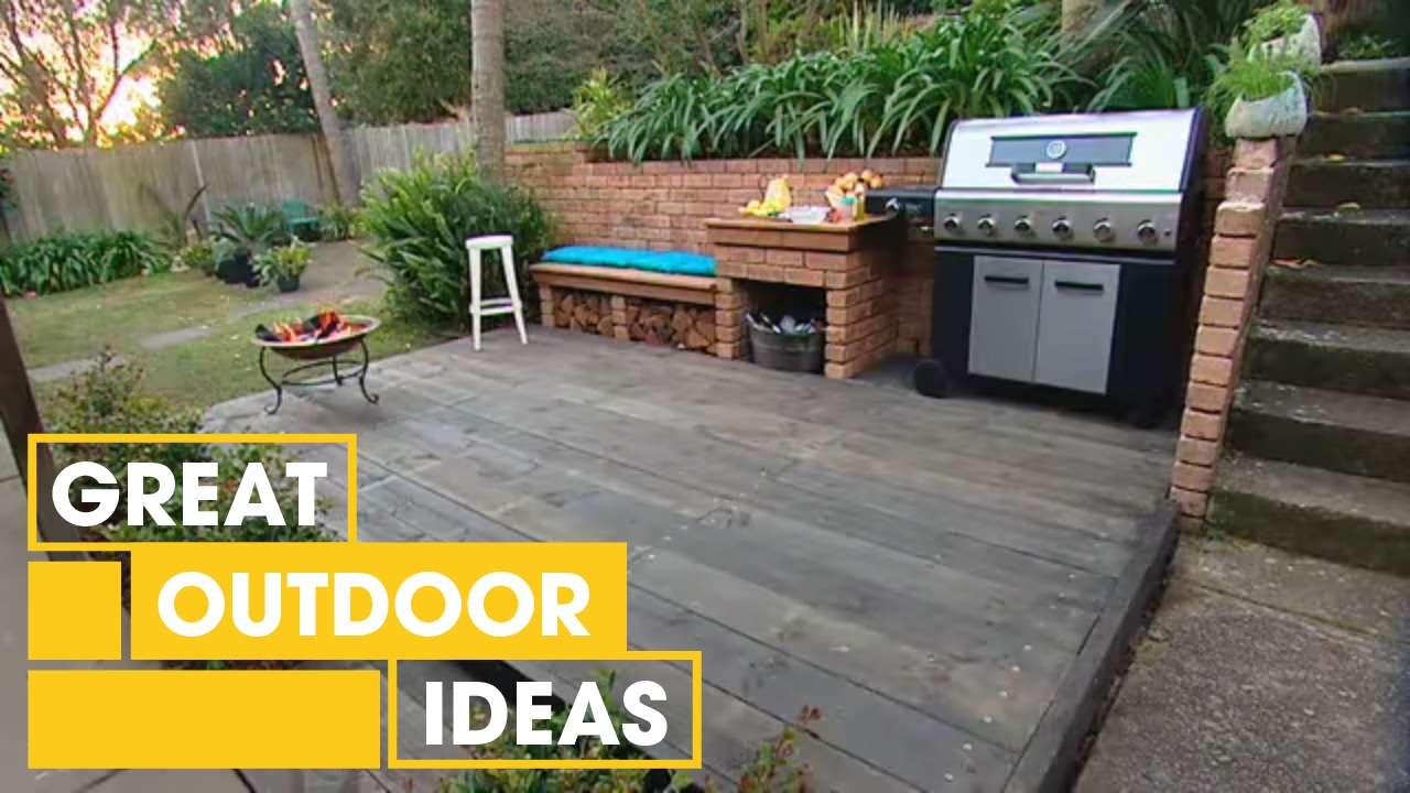 DIY BBQ Area Makeover   Outdoor   Great Home Ideas - YouTube on Diy Bbq Patio id=15295
