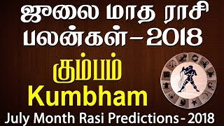 Kumbha Rasi (Aquarius) July Month Predictions 2018 – Rasi Palangal