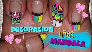 Unas De Los Pies Decoradas Colores Diseno Mandalas Pedicure Design