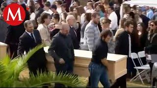 Familiares despiden a víctimas del ataque a la familia LeBarón