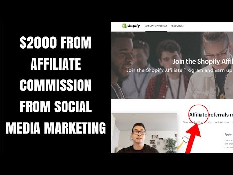 $2000 AFFILIATE COMMISSION With SOCIAL MEDIA MARKETING!?!?