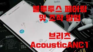 브리츠 AcousticANC1 액티브 노이즈 캔슬링 블…
