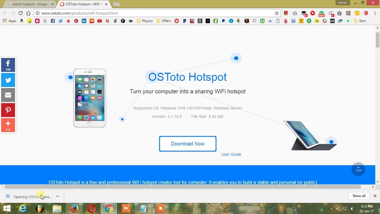Скачать wifi hotspot creator для windows 7