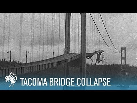 Tacoma Bridge Collapse: The Wobbliest Bridge in the World? (1940) | British Pathé
