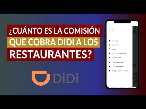 ¿Cuánto es la Comisión o Porcentaje que Cobra DIDI a los Restaurantes por Kilómetros?