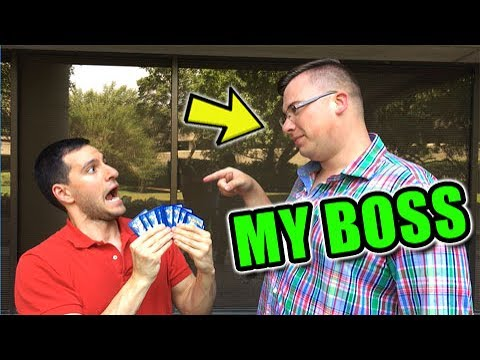 I'M FIRED! - OPENING POKEMON CARDS WITH MY BOSS!