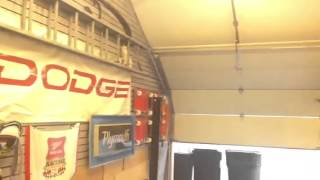 Roof-Pitch Garage Door Modification