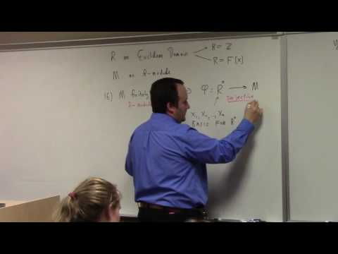 Abstract Algebra II: Smith Normal Form for Abelian Groups, 4-7-17