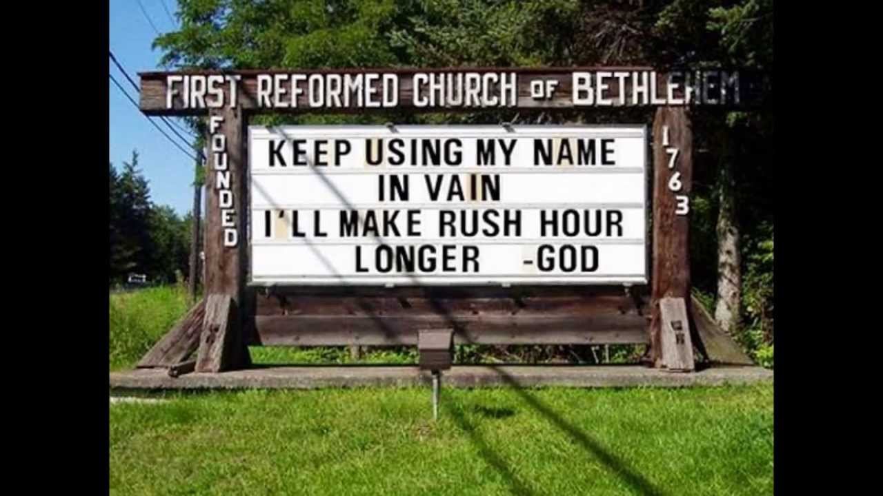 Church Sign Quotes Funny Church Signs  Youtube