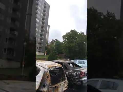 Göteborgban élő magyar hölgy felvétele a gyújtogatásról