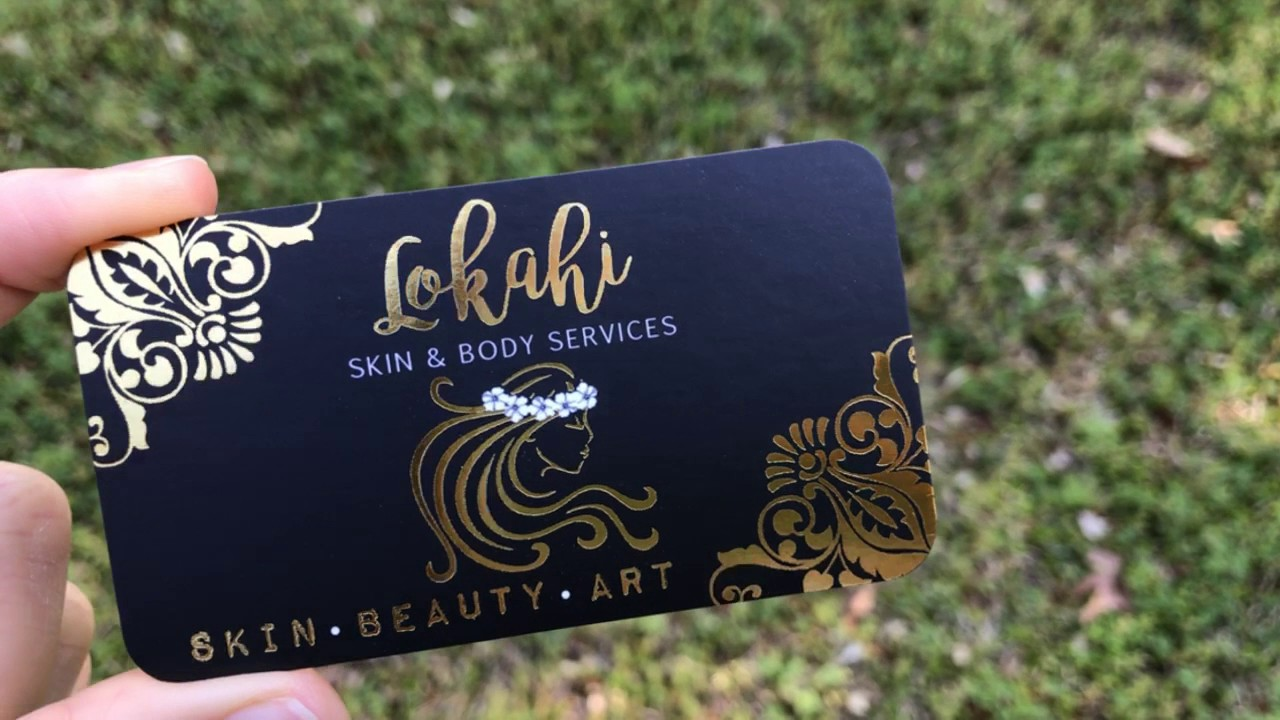 Gold Foil Business Cards For Henna Tatoo Artist Youtube