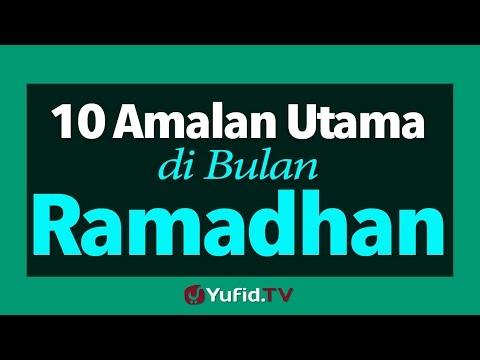 10 Amalan Utama di Bulan Ramadhan - Poster Dakwah Yufid TV ...