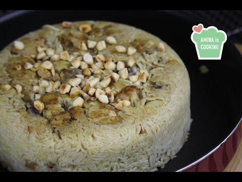 Maqluba recipe with chicken and cauliflower