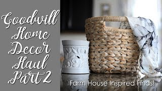 Goodwill Home Decor Haul-Farm House Inspired Thrifted Finds!