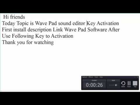 Wavepad with serial download.