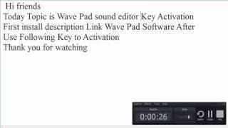 Download Wavepad Sound Editor Registration Code V5 33 MP3, MKV, MP4