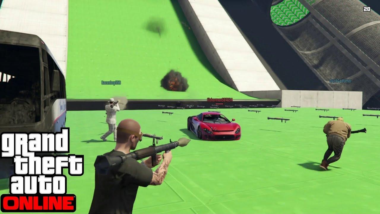 GTA 5 Online - Last Team Standing: #Cars vs RPG Retro Game #2
