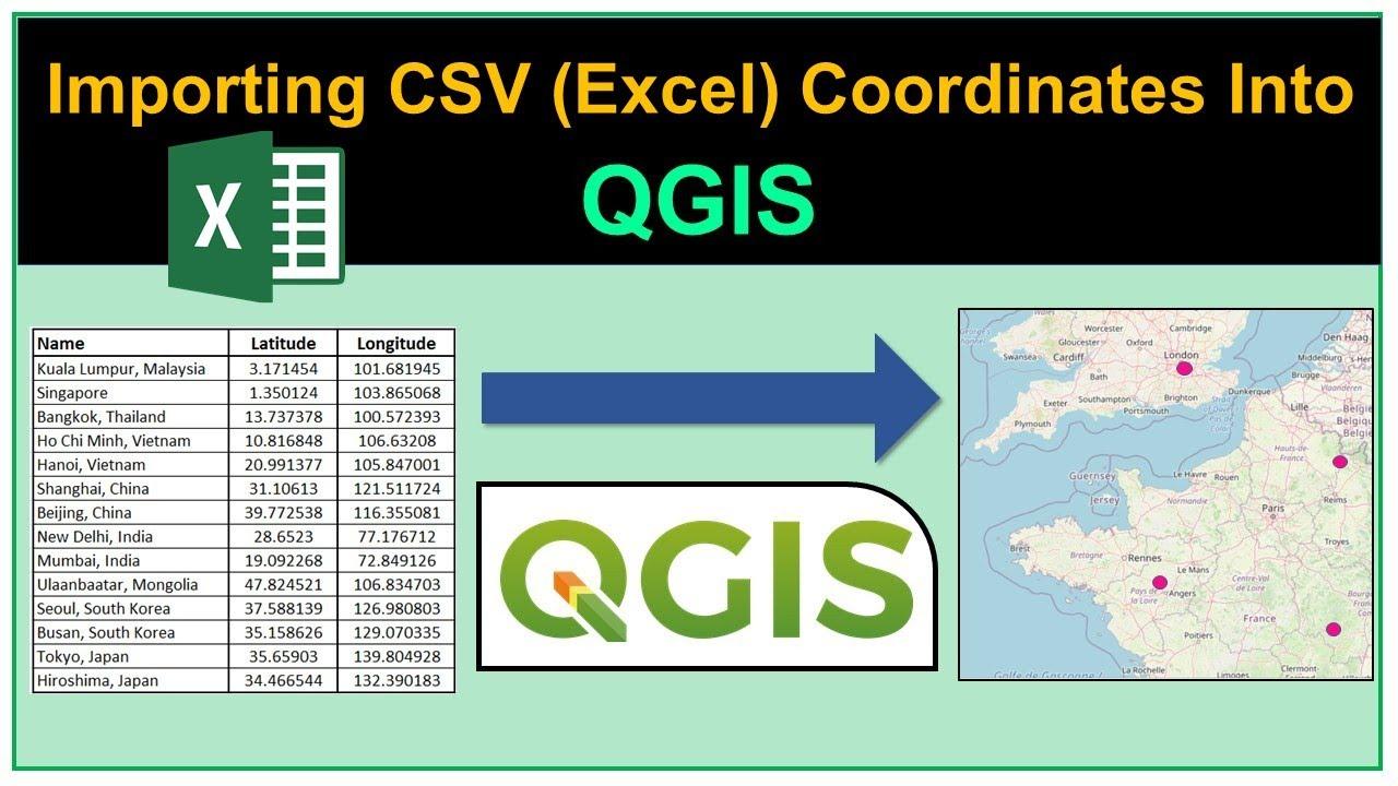 Importing CSV (Excel) Coordinates into QGIS