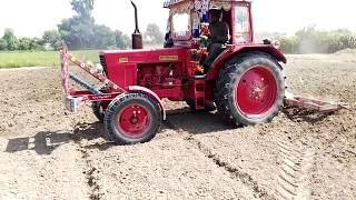 fiat 640 with land leveler in punjab pakistan bhakkar