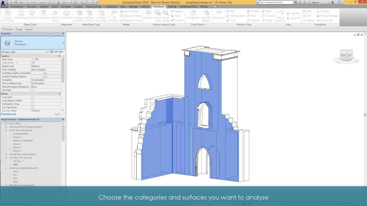 Surface Analysis in PointSense for Revit - FARO® Knowledge Base