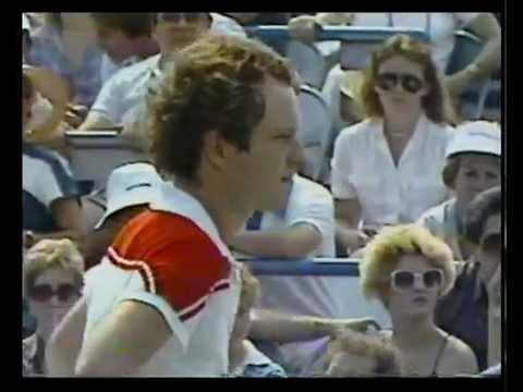 1983 U S  Open :   Scanlon Vs McEnroe (Set 1 Highlights)