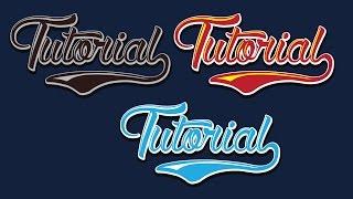 a making simple Text baseball Style - Illustrator Tutorial