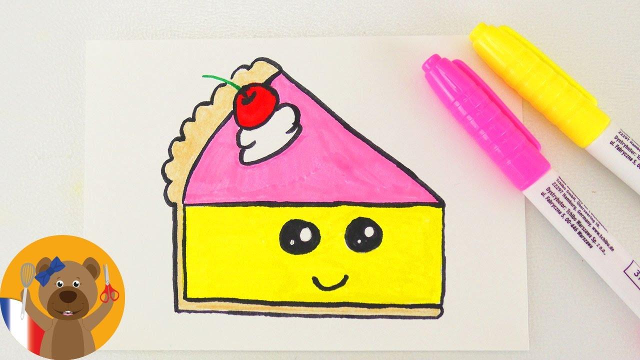 Kawaii Cake Diy Adorable Part De Gateau Pour Une Carte D