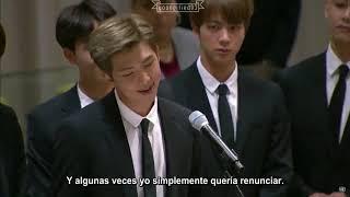 [Sub español] 180924 Discurso de BTS en sede de ONU.