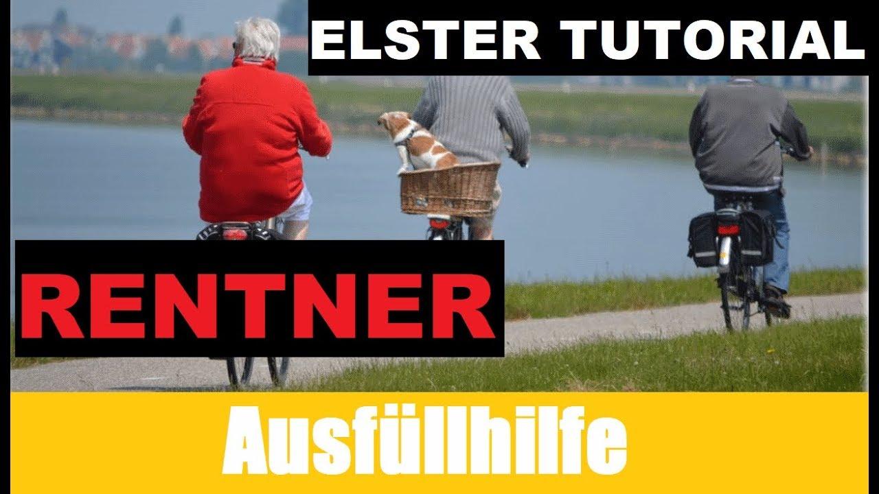 steuererklrung rentner elster tutorial steuererklrung selber machen - Steuererklarung Rentner Muster