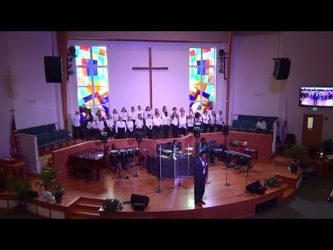 NDMS performs during Queen's Chapel United Methodist Church service 4-30-17