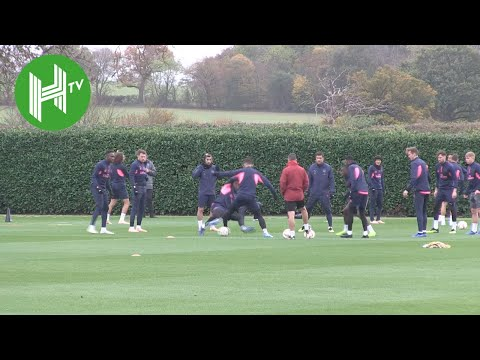 Arsenal v Sporting | Laurent Koscielny trains as Arsenal prepare for Sporting clash in UEL