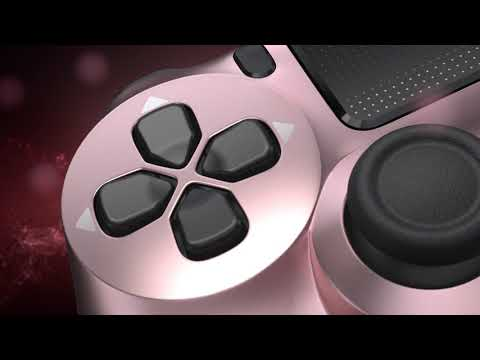 New PlayStation 4 DualShock 4 Wireless Controller - Rose Gold - Video