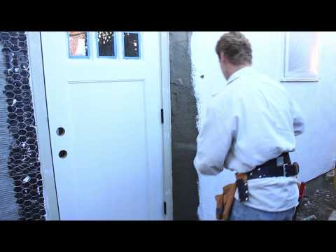 Install doors or windows after Stucco/plaster is applied