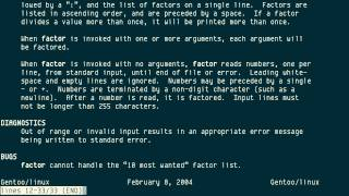 factor, from GNU coreutils or BSD Games