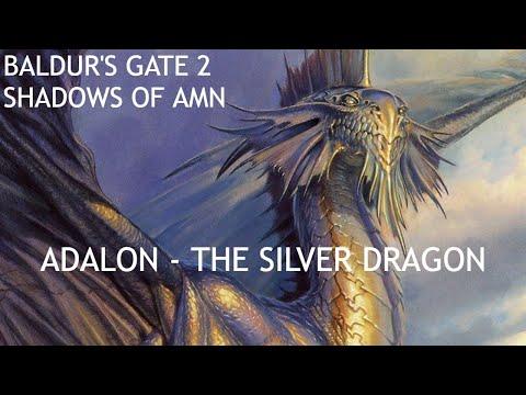 Baldur's Gate 2 - Evil Party x Adalon - The Silver Dragon |