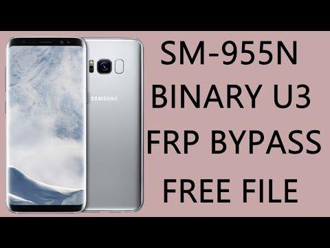 SAMSUNG SM-G955N U3 FRP BYPASS / S8 PLUS BINARY U3 GOOGLE