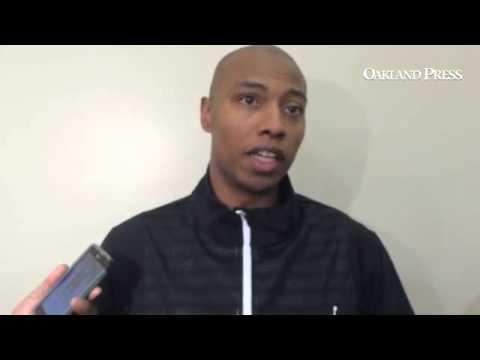 #Pistons Caron Butler on the first day of practice