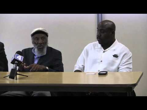 Civil Rights Activist Dick Gregory speaks on race