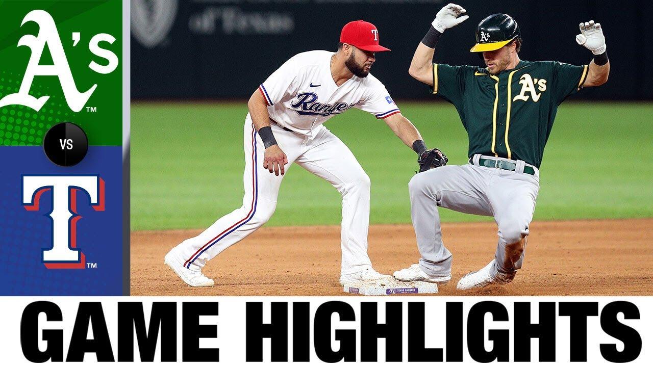 A's vs. Rangers Game Highlights (6/23/21) | MLB Highlights