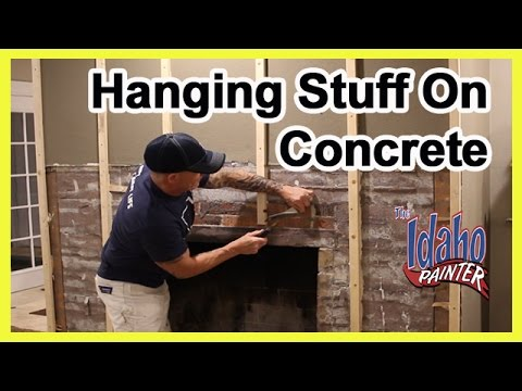 how to hammer a nail in concrete or brick how to hang a picture youtube. Black Bedroom Furniture Sets. Home Design Ideas