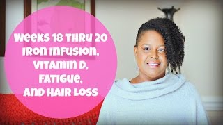 Weeks 18 thru 20 - Iron Infusion, Vitamin D, Fatigue and Hair Loss   By: What Chelsea Eats