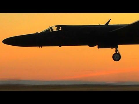 US Air Force Lockheed U2 aircraft at Beale AFB CA.