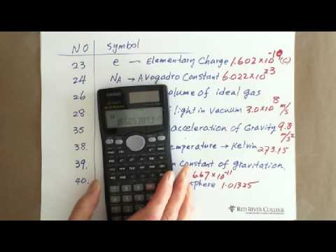 Scientific Calculator: Scientific Constant