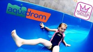 Kids in AQUADROM Aqua Park | Water Park | Biggest Water Slide | BEST WATER PARK